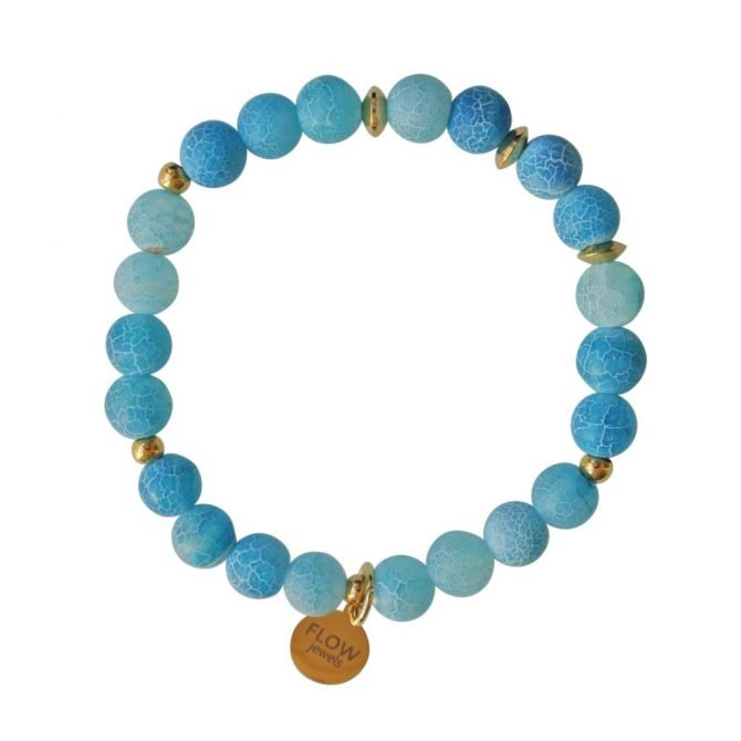 FlowJewels armband goud blauw