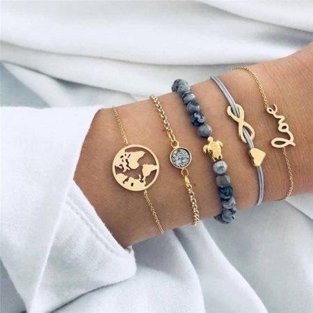 Schildpad Armband Set