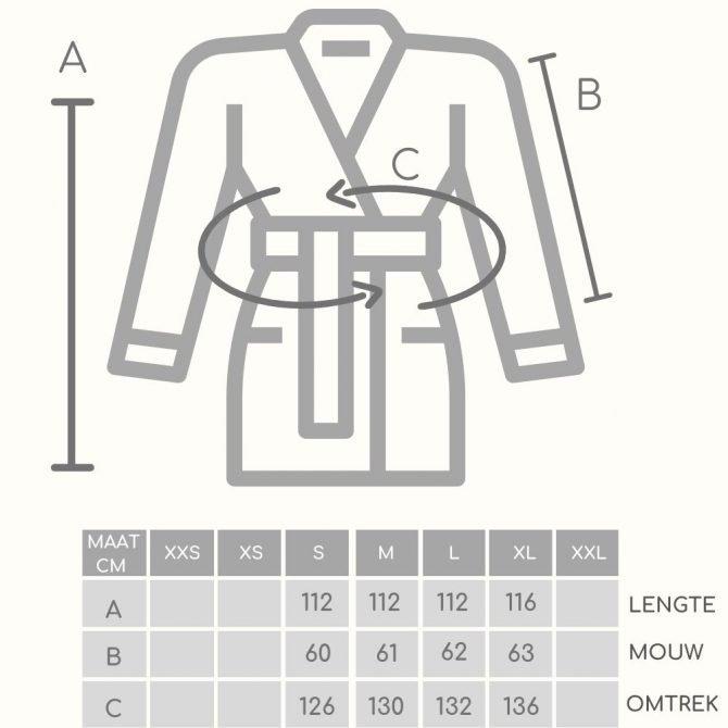 Badjas Likya Size Guide