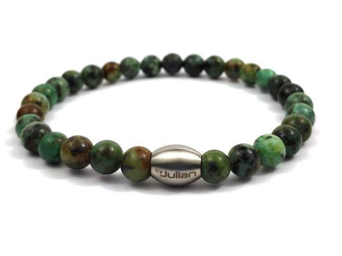 Enam Afrika Turquoise ,heren Armband,mannen Armband,natuursteen,groen,turkoois,byjulian,1
