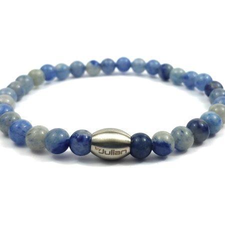 Enam Blauwe Kwarts,heren Armband,mannen Armband,natuursteen,blauw,byjulian,1