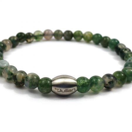 Enam Mosagaat ,heren Armband,mannen Armband,natuursteen,groen,agaat,byjulian,1