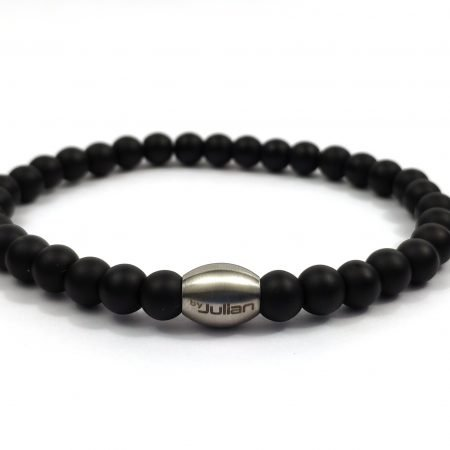 Enam Obsidiaan,heren Armband,mannenarmband,zwart,natuursteen,rvs,byjulian