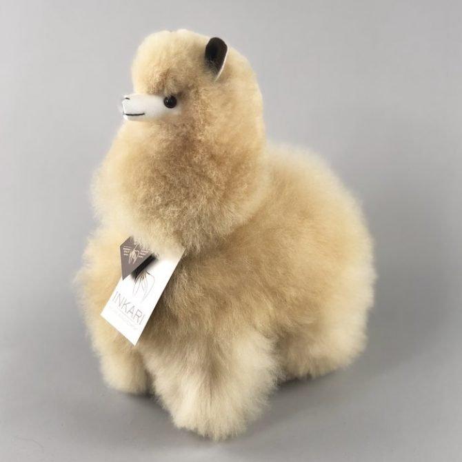 Inkari Alpaca Knuffel Blond M Distelroos 2