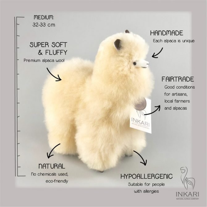 Inkari Alpaca Knuffel Blond M Distelroos 3