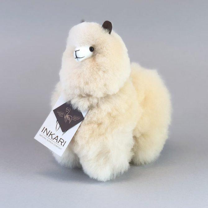 Inkari Alpaca Knuffel Blond S Distelroos 2
