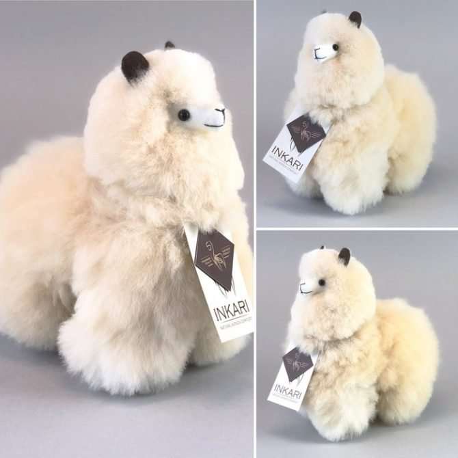 Inkari Alpaca Knuffel Blond S Distelroos 3