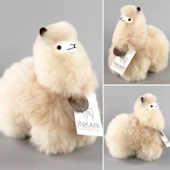 Inkari Alpaca Knuffel Blond S Distelroos 4
