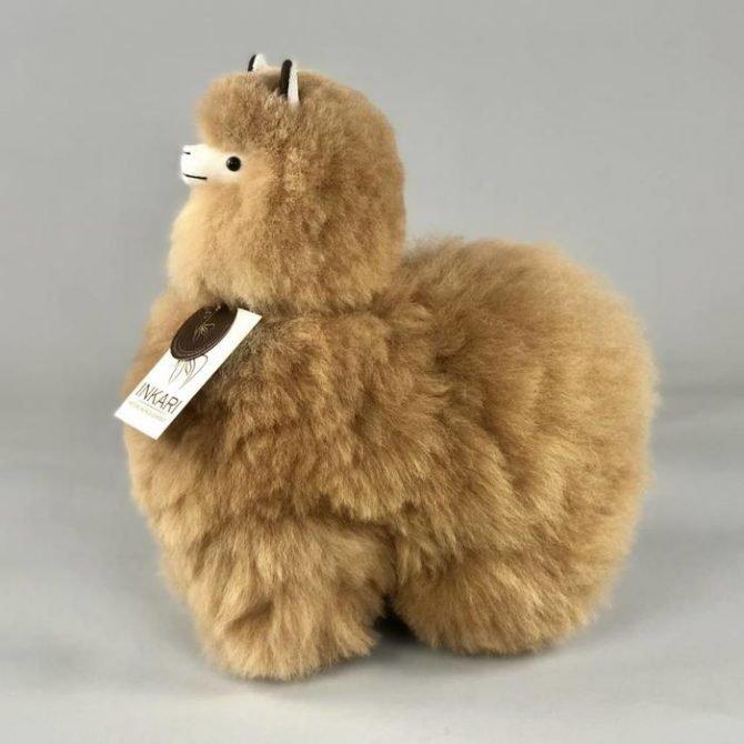 Inkari Alpaca Knuffel Hazelnoot M Distelroos 3