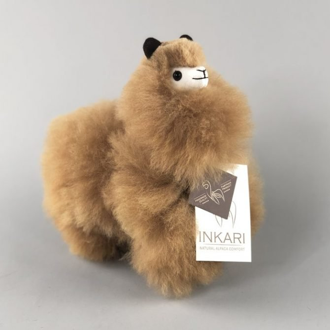 Inkari Alpaca Knuffel Hazelnoot S Distelroos 2