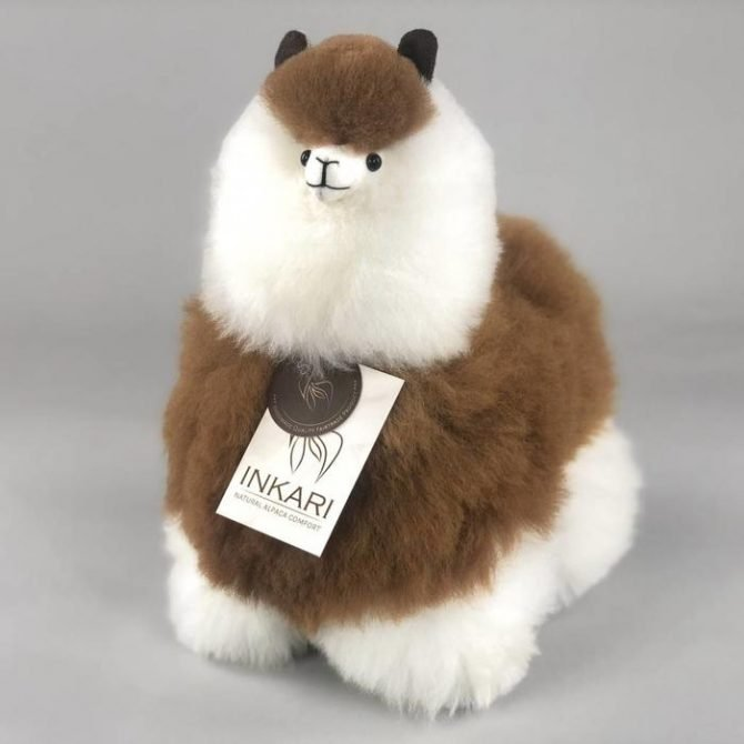 Inkari Alpaca Knuffel Macchiato M Distelroos 2
