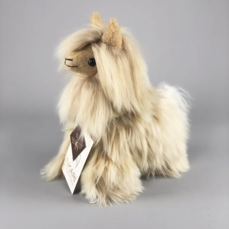Inkari Alpaca Zachte Knuffel Suri Goud Small Distelroos