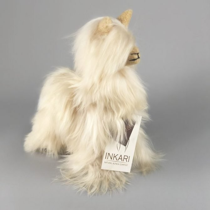 Inkari Alpaca Zachte Knuffel Suri Sahara Small Distelroos 2