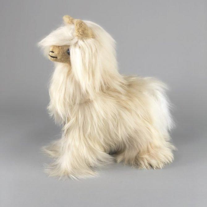 Inkari Alpaca Zachte Knuffel Suri Sahara Small Distelroos 3