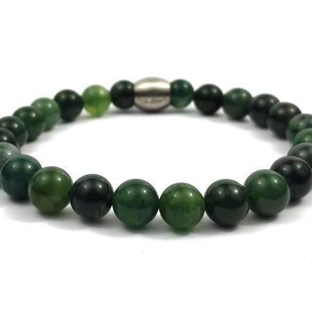 Nane Mosagaat ,heren Armband,mannen Armband,natuursteen,groen,agaat,byjulian,