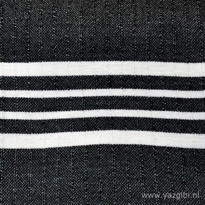 Yazgibi Hamamdoek Yaz Zwart Detail