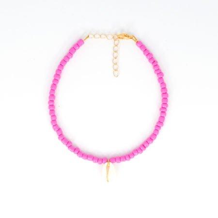 Enkelbandje.beads.pink
