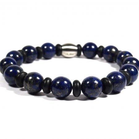 Umi Onyx Lapis Lazuli, Heren Armband,mannen Armband,zwart,groen,by Julian