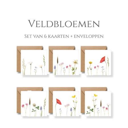 Veldbloemen Postcards X6