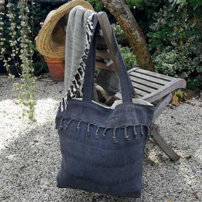 Yazgibi Beachbag Stonewashed Black