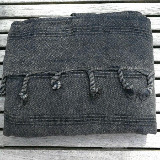 Yazgibi Beachbag Stonewashed Black Detail