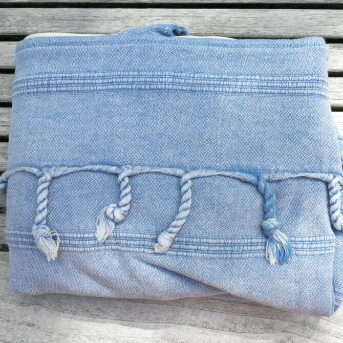 Yazgibi Beachbag Stonewashed Blauw Detail