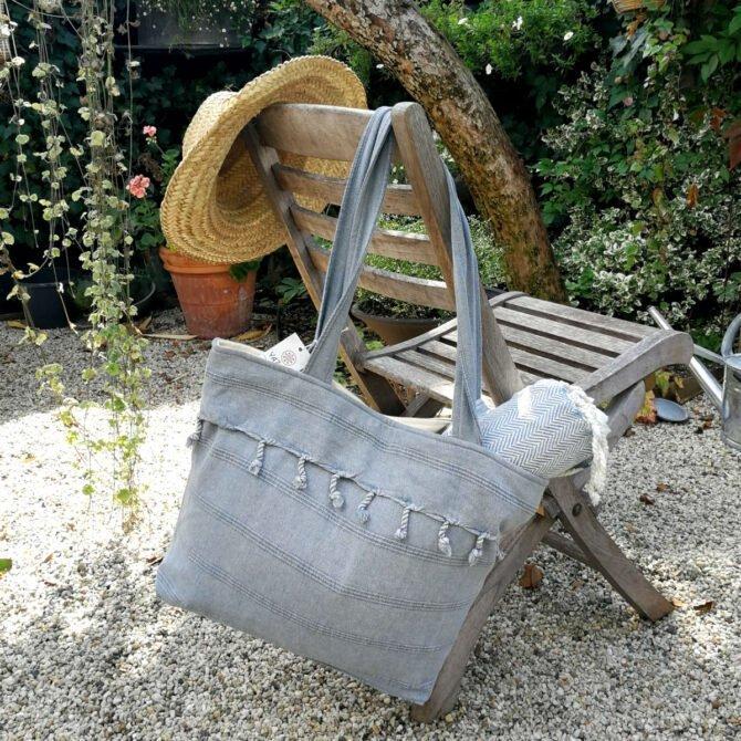 Yazgibi Beachbag Stonewashed Charcoal
