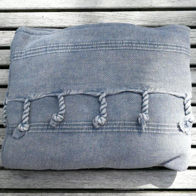 Yazgibi Beachbag Stonewashed Charcoal Detail