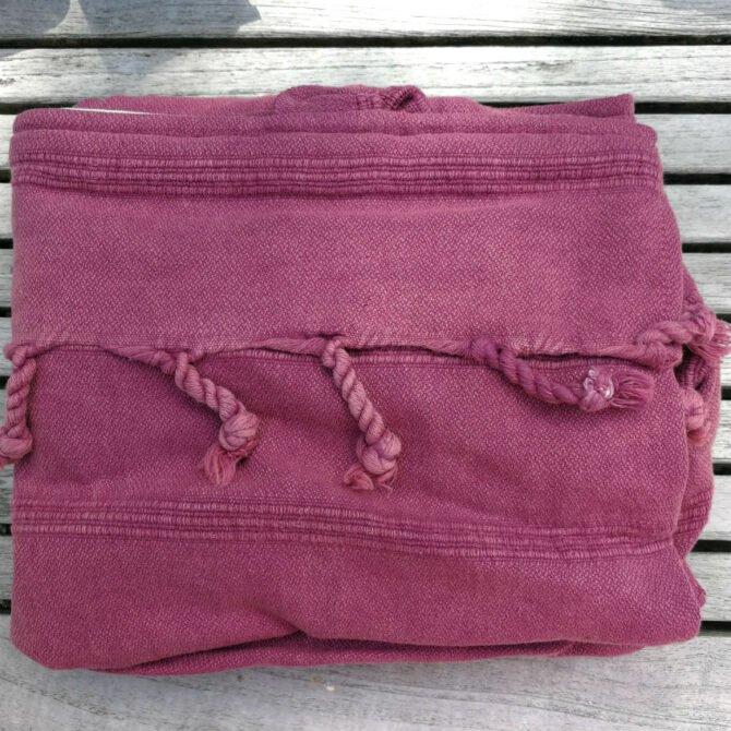 Yazgibi Beachbag Strandtas Stonewashed Pink Detail