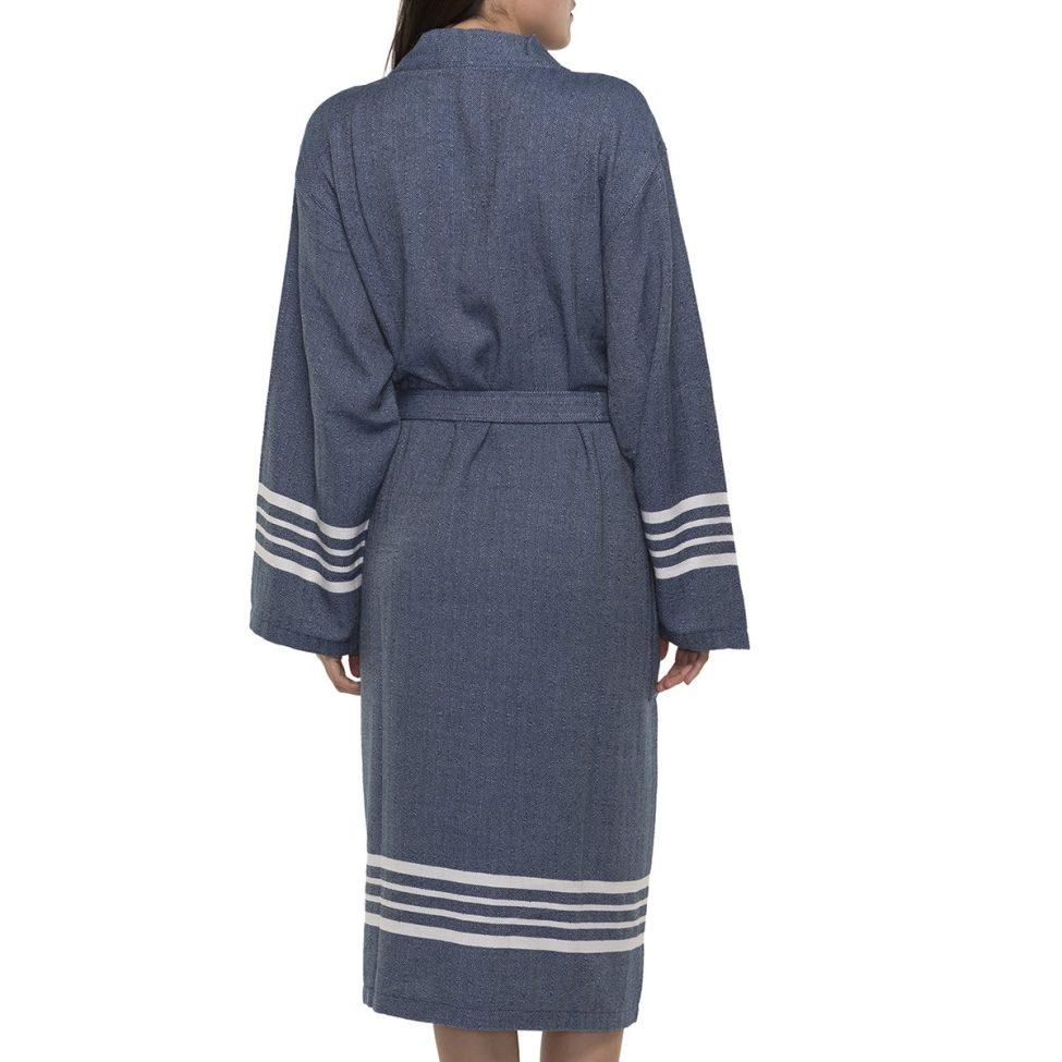 Yazgibi Hamam Adjas Kimono Navy Back