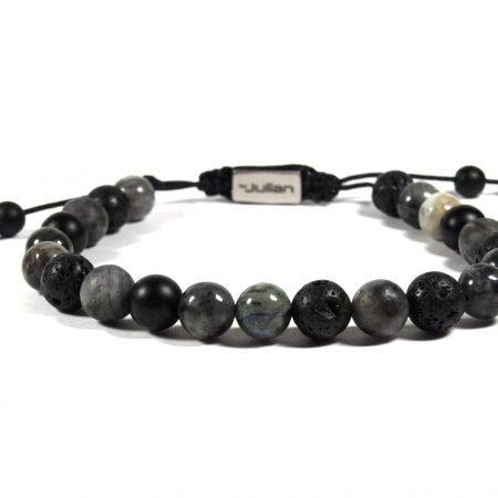 Batu Nane Antraciet,mannen Armband,heren Armband,natuursteen,zwart,by Julian (2)