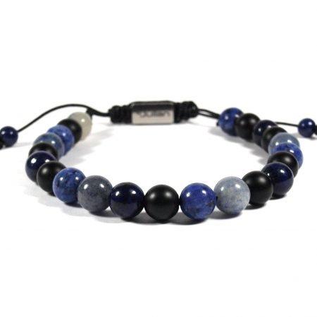Batu Nane Blauw,mannen Armband,heren Armband,natuursteen,blauw,2,by Julian