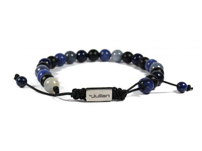 Batu Nane Blauw,mannen Armband,heren Armband,natuursteen,blauw,by Julian