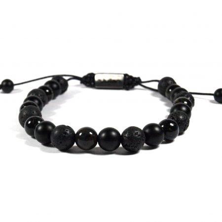 Batu Nane Zwart,mannen Armband,heren Armband,natuursteen,zwart,by Julian