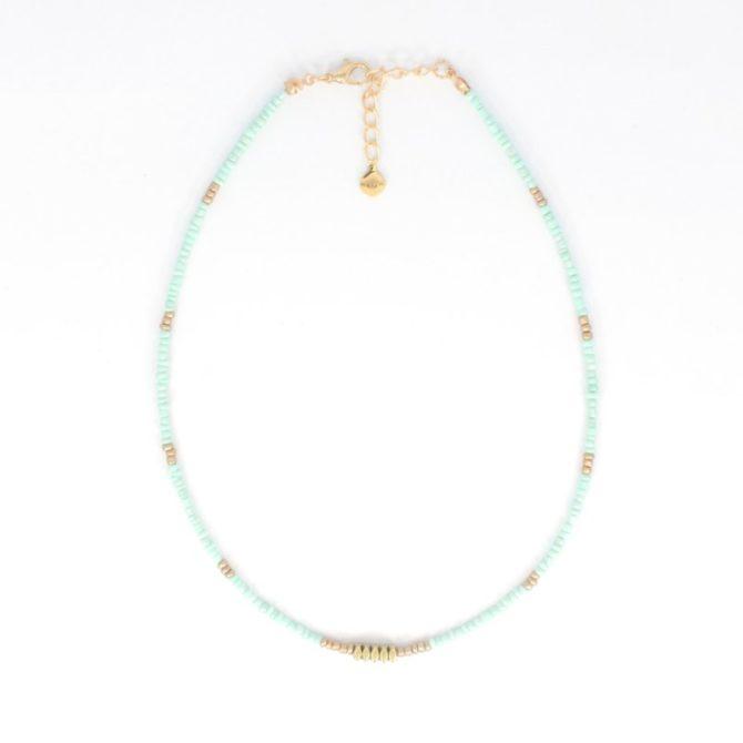 Mint Gold Beads