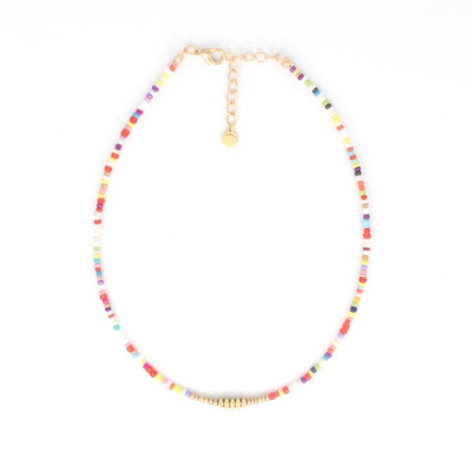 Multicolor Gold Beads