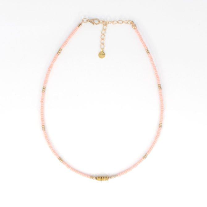 Peach Gold Beads