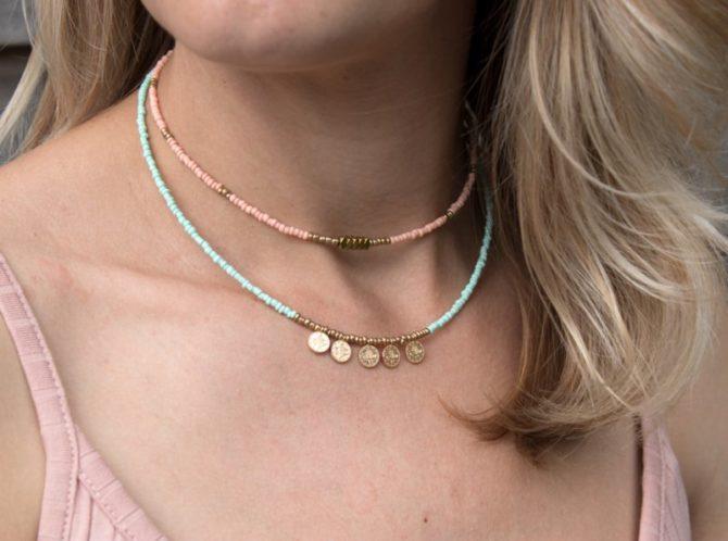 Peach Gold Beads Sfeer