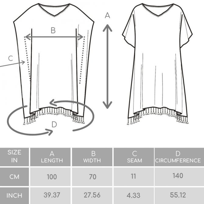 Yazgibi Size Guide Tunic Tokat