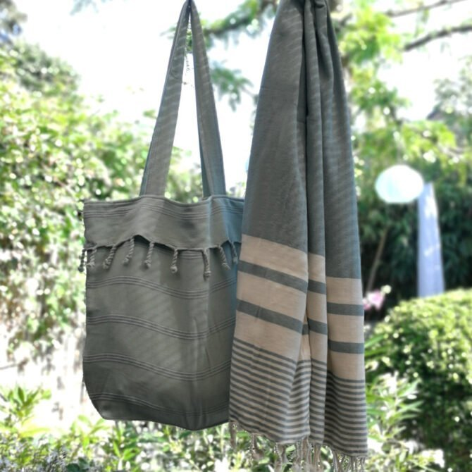 Yazgibi Beachbag Stonewashed Mint