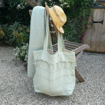 Yazgibi Beachbag Stonewashed Wafeldoek Mint