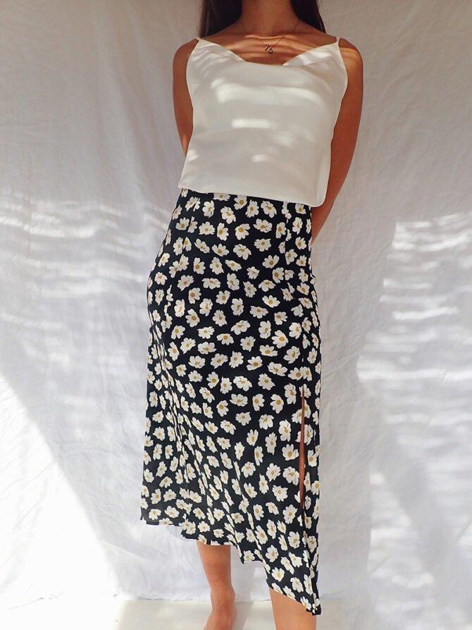 Floral Midi Skirt Bella