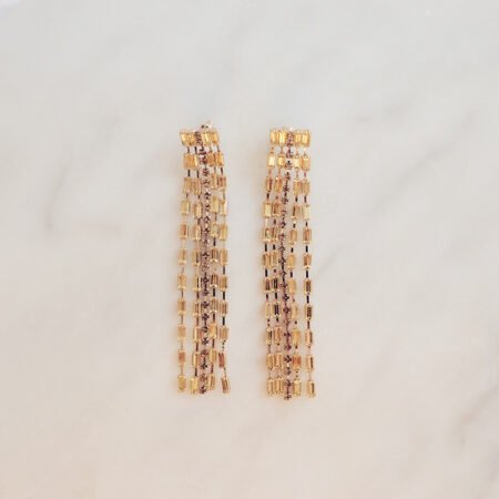 Rhinestone Waterfall Earrings Elea