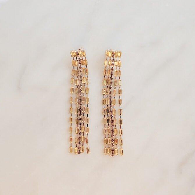 Rhinestone Waterfall Earrings Elea