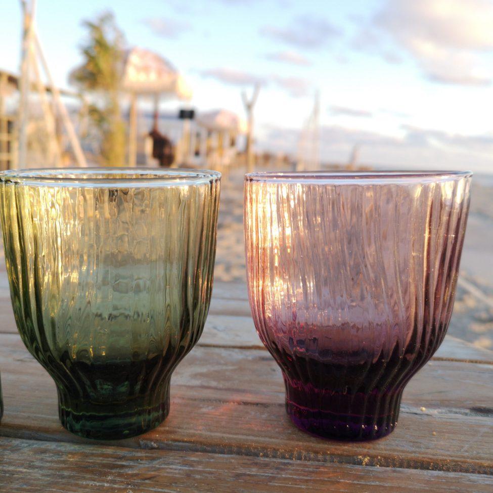 Groen En Roze Loodvrij Kristal Glas