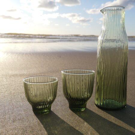 Groen Loodvrij Kristallen Set Glaswerk