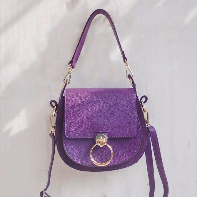 Leather Bag Avalon Purple 2