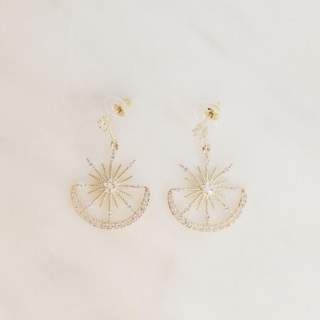 Rhinestone Dangle Earrings Etoile