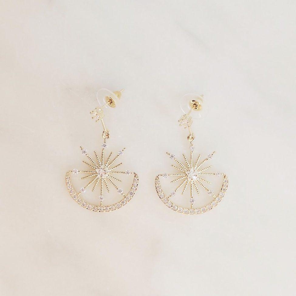 Rhinestone Dangle Earrings Etoile
