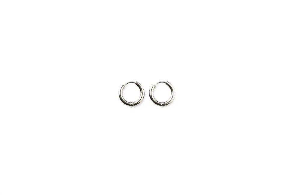 Basic hoops 10 mm zilver